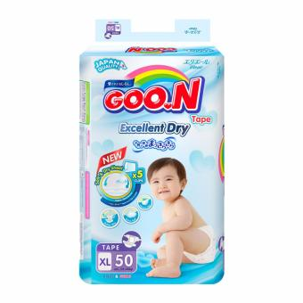 Tã dán Goon XL50 12-20kg (Trung tính XL)