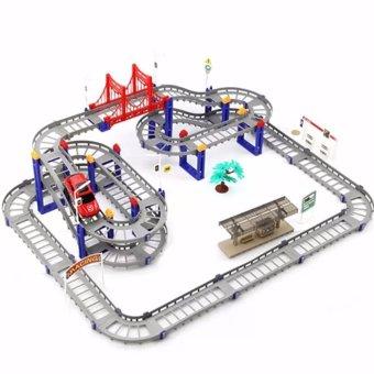 Đồ chơi Thông minh lắp ráp đường ray cho ô tô chạy, phát triển tư duy trẻ.