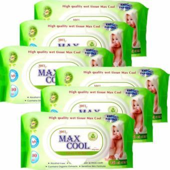 Bộ 24 gói khăn ướt Max Cool 100 tờ, không hương