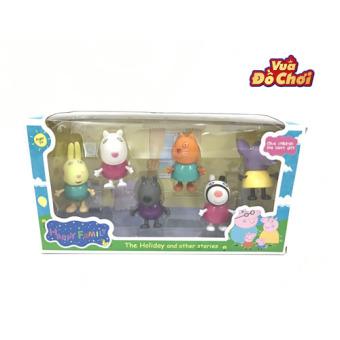 Bộ đồ chơi Peppa pig hộp 6 nhân vật