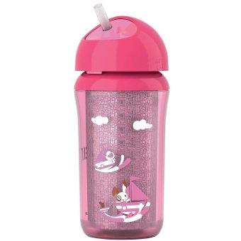 Bình tập uống có ống hút cho trẻ trên 12 tháng tuổi Philips Avent SCF766/00 (Hồng)