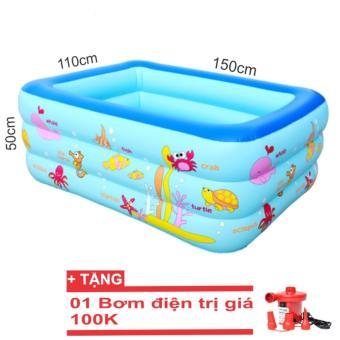 Bể bơi phao gia đình cở lớn (150x110x50cm)