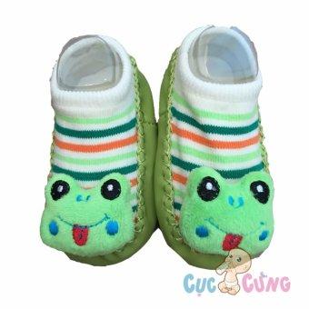 Giày tập đi cho trẻ sơ sinh - hình ếch