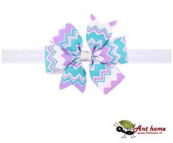 Phụ kiện tóc băng đô handmade cao cấp AHBĐ7 họa tiết tím xanh (số 1)