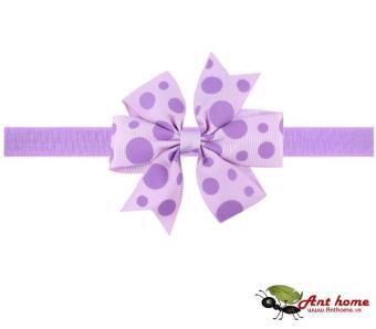 Phụ kiện tóc băng đô handmade cho bé AHBĐ6 mầu tím (số 3)