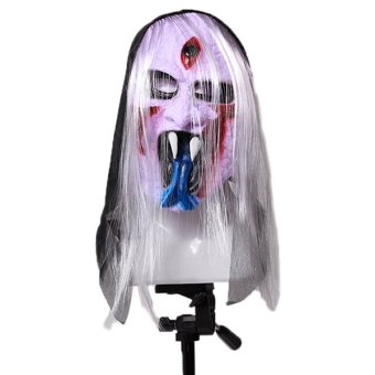 LALANG Halloween Silicone Three Eyes Ghost Mask - intl