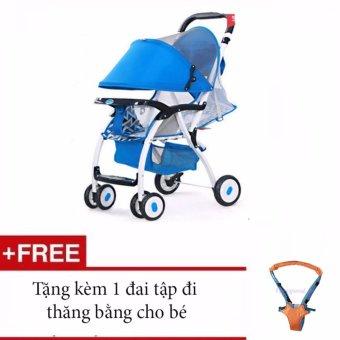 Xe nôi đẩy trẻ em Baobaohao 722C + Tặng kèm 1 đai tập đi thăng bằng cho bé (Đỏ)