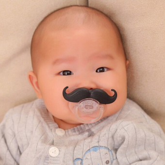 Silicone Funny Baby Pacifier Dummy Nipple Teethers (A) (Black+White) - intl