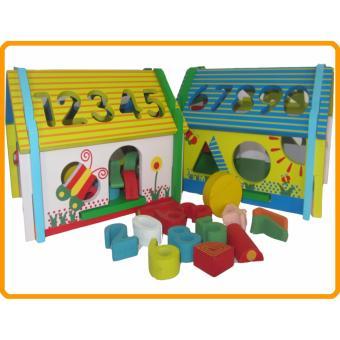 Đồ chơi gỗ Nhà Thả Số Trí Tuệ Màu Sắc