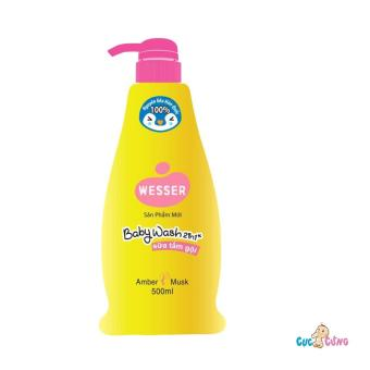 Sữa tắm gội Wesser 500ml - Hồng(Hồng)