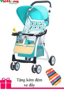 Xe nôi đẩy trẻ em baobaohao 722A (Xanh ngọc) + Tặng kèm đệm xe đẩy