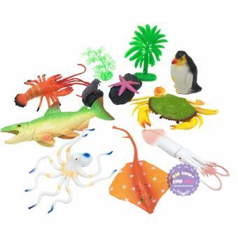 Bộ đồ chơi mô hình các loài sinh vật biển đại bằng nhựa
