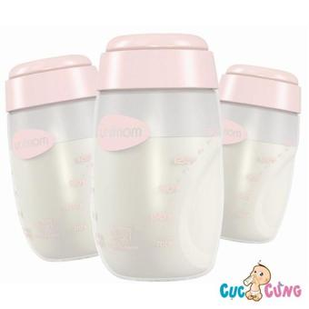 Bộ 3 bình trữ sữa Unimom UM880045(Hồng)