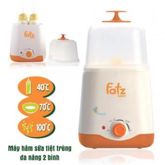 Máy hâm sữa tiệt trùng 2 bình cổ rộng FatzBaby FB3011SL