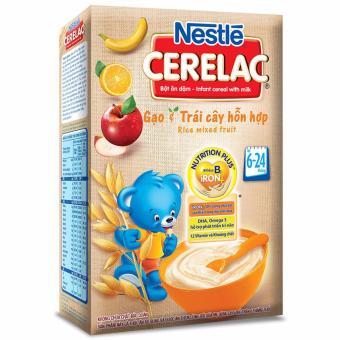 Bộ 2 Bột ăn dặm gạo và trái cây hỗn hợp Nestlé Cerelac