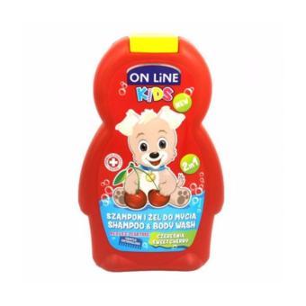 Sữa Tắm Gội 2in1 On Line Kids Mùi Quả Cherry - 250ml(Hồng)