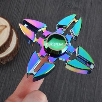 Con quay Fidget Spinner 4 cánh phi tiêu 7 màu cực chất