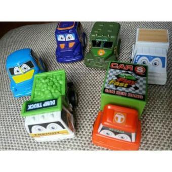 Bộ đồ chơi 6 ô tô BUSES SERIES cực CUTE cho các bé yêu (có dây cót)