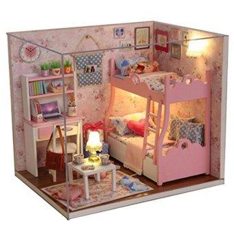 Mô hình nhà gỗ DIYCăn phòng bé gái
