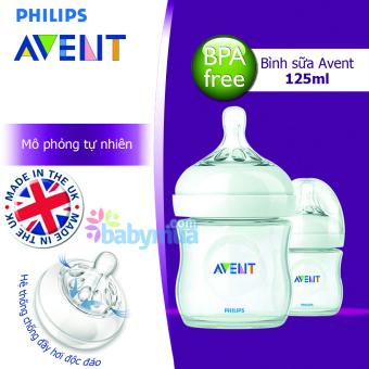 Bình sữa Avent 125ml PP mô phỏng tự nhiên SCF69027