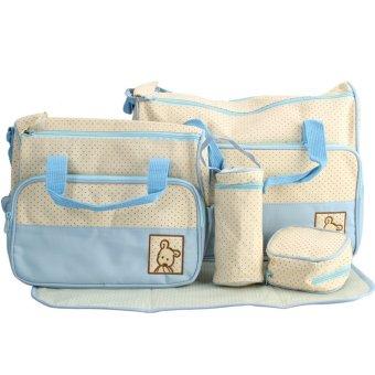 Túi đựng đồ cho mẹ và bé 5 chi tiết Shopconcuame (Xanh dương)