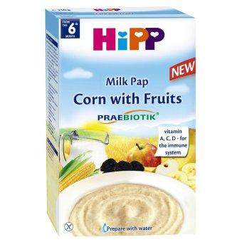 Bột dinh dưỡng hoa quả sữa, bắp HiPP 250g