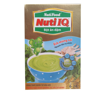 Bột ăn dặm ếch mùng tơi Nuti IQ 200g