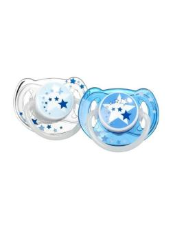 Bộ 2 ty ngậm phát sáng ban đêm cho bé từ 6-18 tháng tuổi Philips Avent 176.22