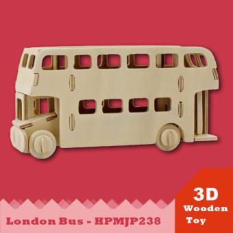 Đồ chơi xếp hình xe bus London 3D Puzzle Wooden HPM5238