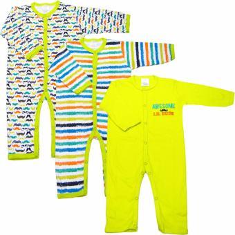 Bộ 3 áo liền quần dài bé trai Baby Gear (Màu sắc ngẫu nhiên)