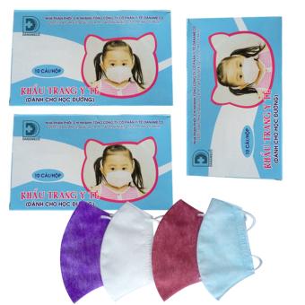 Bộ 3 hộp khẩu trang y tế dành cho bé Danameco