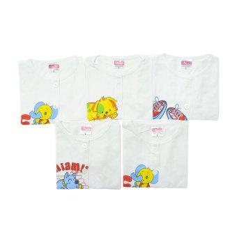 Bộ 5 áo cài giữa tay ngắn trắng Nanio AD099