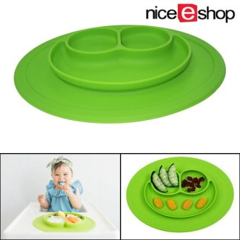 niceEshop Baby Silicone Feeding Placemat Plate,Green - intl
