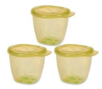 Bộ 3 hộp đựng thức ăn có nắp UPASS HỮU CƠ UP4187OL(Xanh lá)