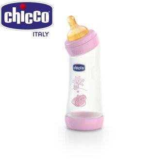 Bình sữa cổ nghiêng núm cao su sóc hồng