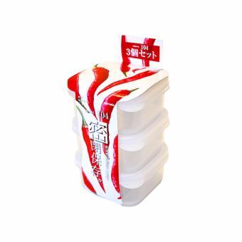 Bộ 3 hộp trữ đồ ăn dặm cho bé 160ml inomata Nhật (Hình Vuông)