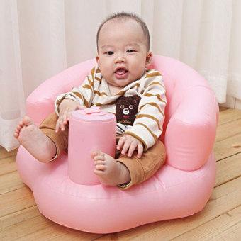 Ghế hơi BenHome tập ngồi bơm tay tiện dụng cho bé (Hồng)
