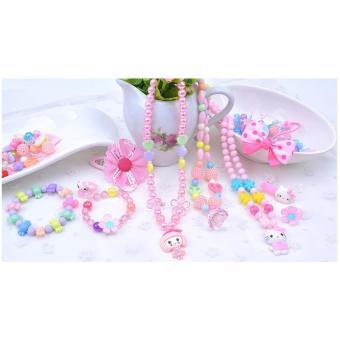 Bộ đồ chơi hạt châu ngọc làm phụ kiện cho bé gái Làm Đẹp + Tặng kèm dây chun làm vòng