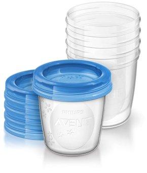 Bộ 5 Cốc trữ sữa VIA Philips Avent SCF619-05 180ml