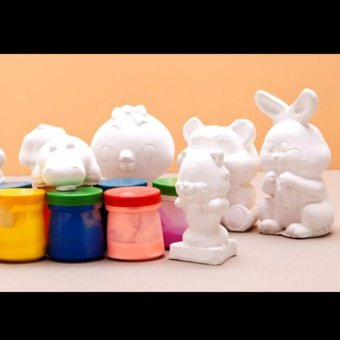 Bộ đồ chơi tô tượng cho bé(kèm theo hộp màu và bút lông)