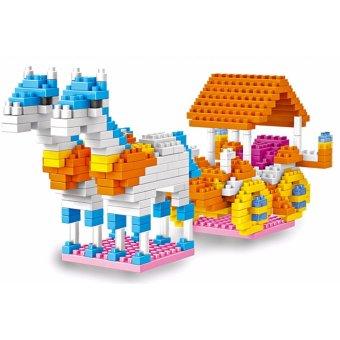 Bộ đồ chơi lắp ghép 3D cỗ xe ngựa