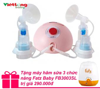 Máy hút sữa đôi Spectra Dew 350 + Tặng máy hâm sữa 3 chức năng Fatz Baby FB3003SL trị giá 290.000đ