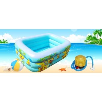 Ho boi phao gia dinh - Bể bơi phao Z130 ĐẸP, DÀY, CỰC BỀN- dành cho cả người lớn - TẶNG BƠM CHUYÊN DỤNG.