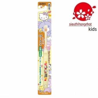 Bàn chải đánh răng Hello Kitty B-S10 Cho Trẻ Từ 0,5-3 tuổi(Vàng)