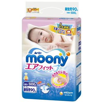 Tã giấy Moony Newborn 90