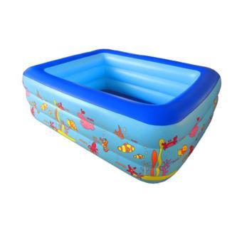 Ho boi di dong cho tre em - Bể bơi phao 3 tầng chữ nhật 130X90X50 - Chất liệu cao cấp, Bền, Đẹp - TẶNG BƠM BỂ BƠI.