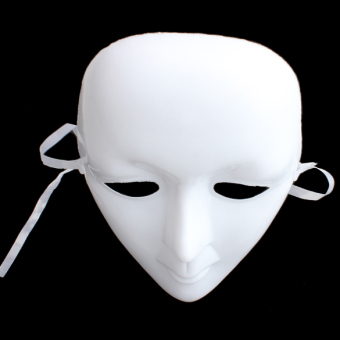Scary Halloween Masquerade Party Mask White