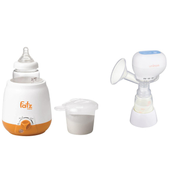 Máy hút sữa Unimom Kpop 871104 và Máy hâm nóng 3 chức năng không BPA Fatz 3003SL