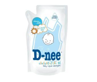 Nước giặt quần áo em bé Dnee xanh 600ml