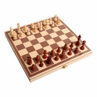 Bộ cờ vua và bàn cờ bằng gỗ tự nhiên(Vàng nhạt)